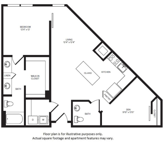 Floor Plan  A13D floor plan at Windsor Turtle Creek, 3663 Cedar Springs Rd, 75219, opens a dialog