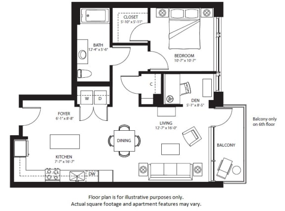 Floor Plan  A18 North NEW at The Bravern, 688 110th Ave NE, 98004