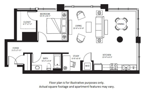 Floor Plan  A19 North NEW at The Bravern, Bellevue, WA