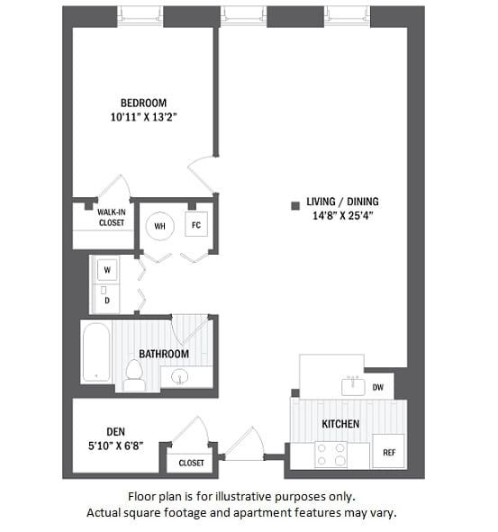 Floor Plan  A1D floor plan at Jack Flats by Windsor, Massachusetts, 02176