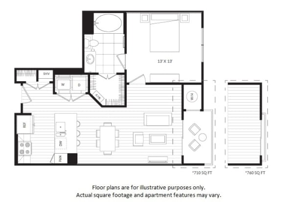 Floor Plan  A2 floor plan at Windsor Oak Hill, TX, 78735