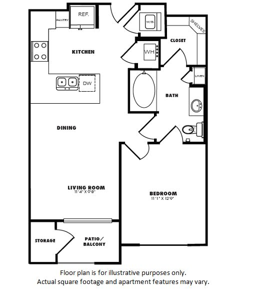 Floor Plan  A2(1) floor plan at Windsor Burnet, TX, 78758