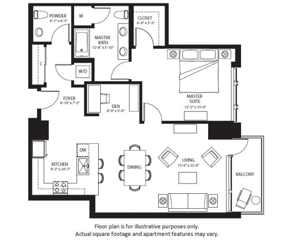 Floor Plan  A25 North NEW floor plan at The Bravern, Washington, 98004