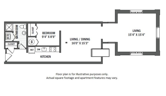 Floor Plan  A2L floor plan at Jack Flats by Windsor, Melrose, Massachusetts
