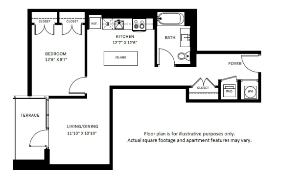 Floor Plan  A3 Floor Plan at 7770 Norfolk, Bethesda, 20814, opens a dialog