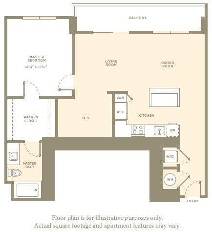 Floor Plan  A3 Floor Plan at Amaray Las Olas by Windsor, 215 SE 8th Ave, FL