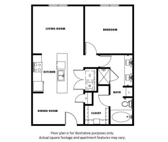 Floor Plan  A4  Floor Plan at Windsor Metro West, Plano, TX