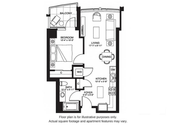 Floor Plan  A4 South(1) at The Bravern, WA, 98004