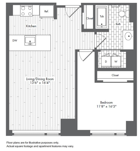 Floor Plan  A4 Waterside Place layout at Waterside Place by Windsor, Boston, MA