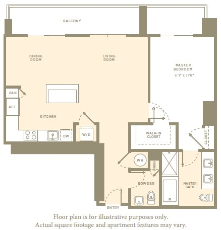 Floor Plan  A4 Floor Plan at Amaray Las Olas by Windsor, Florida, 33301