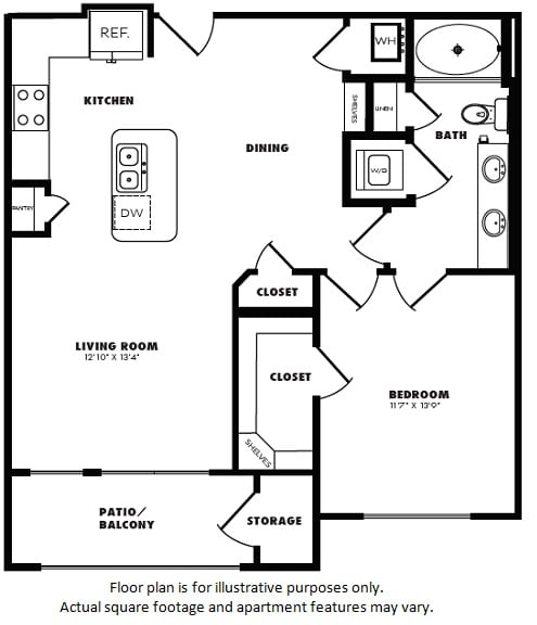 Floor Plan  A5(1) floor plan at Windsor Burnet, Austin, TX