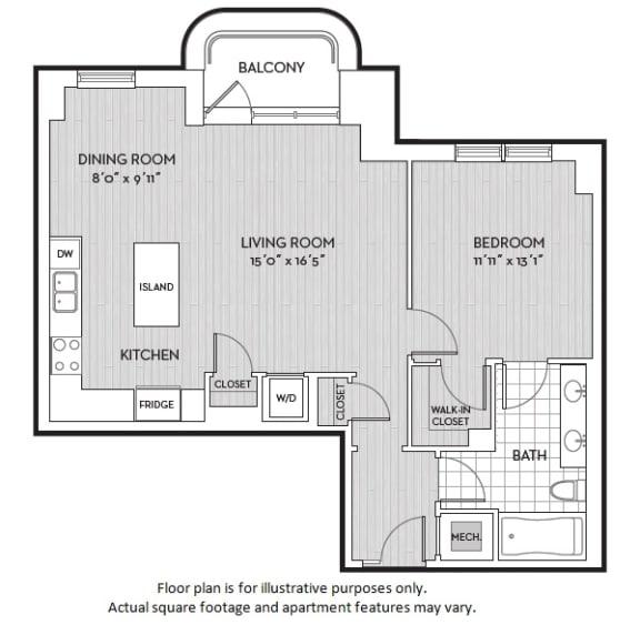 Floor Plan  A5(3) floor plan at The Woodley, Washington, DC, opens a dialog