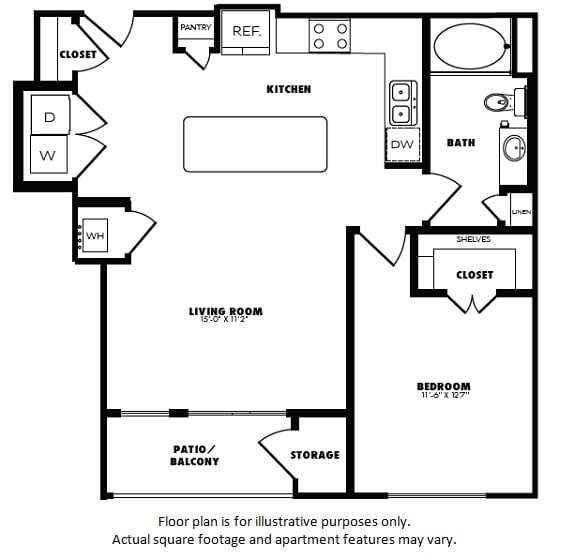 Floor Plan  A6(2) floor plan at Windsor Burnet, 10301 Burnet Rd, 78758