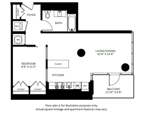 Floor Plan  A6 Floor Plan at 7770 Norfolk, Maryland, opens a dialog