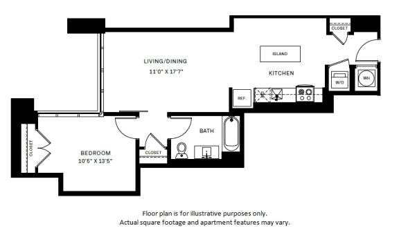 Floor Plan  A8 Floor Plan at 7770 Norfolk, Bethesda, MD, 20814