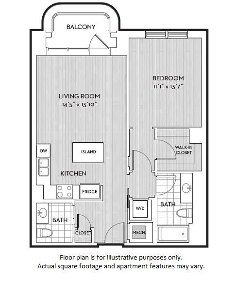 Floor Plan  A9(5) floor plan at The Woodley, Washington, DC, opens a dialog