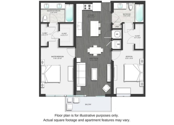 Floor Plan  B1 Floor Plan Second Image at Allure by Windsor, Boca Raton, FL, opens a dialog