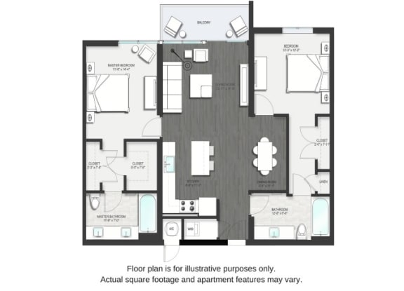 Floor Plan  B2 Floor Plan at Allure by Windsor, Boca Raton, Florida, opens a dialog