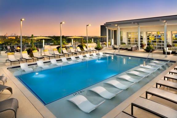 Cool Blue Swimming Pool at The Encore by Windsor, Atlanta, Georgia