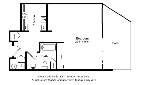 Floor Plan  Antigua(1) floor plan at Tera Apartments, Kirkland, WA