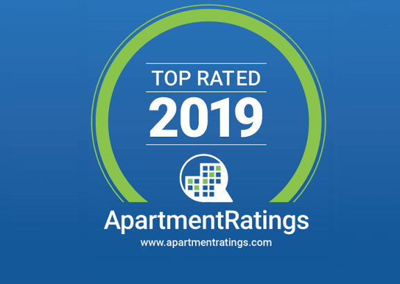 ApartmentRatings Top Rated 2019 Award at Terraces at Paseo Colorado, Pasadena, CA
