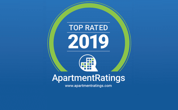 ApartmentRatings Top Rated 2019 Award at 1000 Speer by Windsor, Colorado