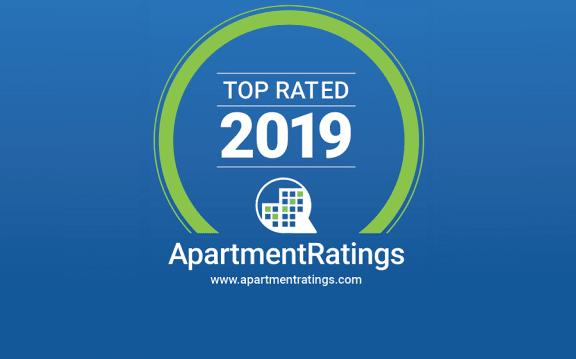 ApartmentRatings Top Rated 2019 Award at Windsor at Brookhaven, Atlanta, Georgia
