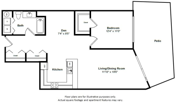 Floor Plan  Aruba floor plan at Tera Apartments, WA, 98033