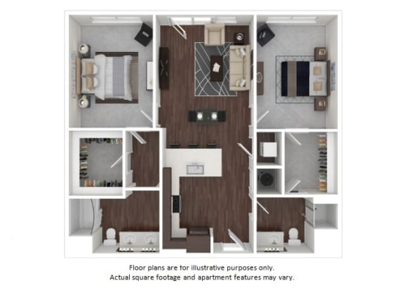 Floor Plan  B1 1 3D disclaimer floor plan at The Casey, Colorado, 80202