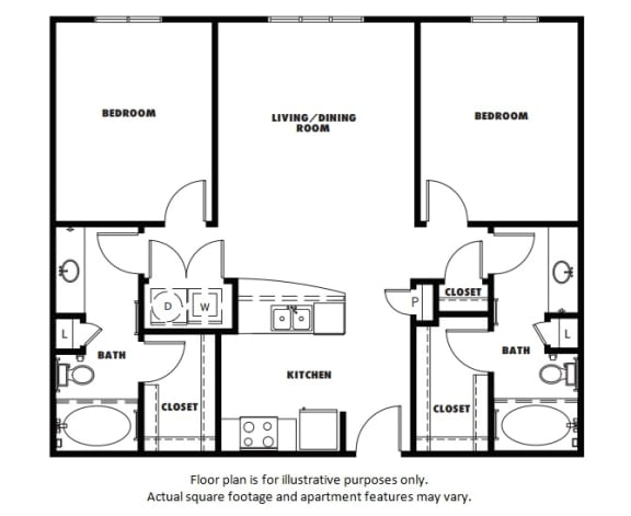 Floor Plan  B1 floor plan at Windsor Metro West, Plano, Texas