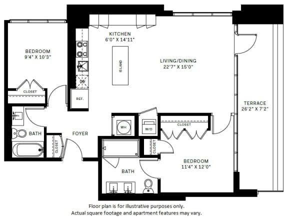 Floor Plan  B1 Floor Plan at 7770 Norfolk, Bethesda, 20814, opens a dialog