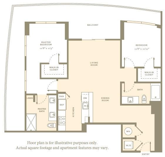 Floor Plan  B10 Floor Plan at Amaray Las Olas, Fort Lauderdale, FL