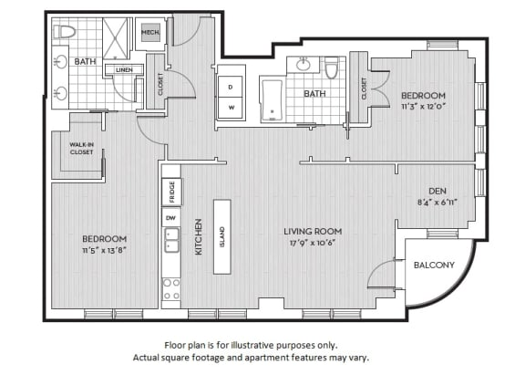 Floor Plan  B10 floor plan at The Woodley, 2700 Woodley Road, NW, 20008, opens a dialog