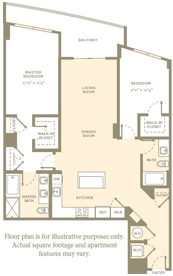 Floor Plan  B11 Floor Plan at Amaray Las Olas, 215 SE 8th Ave, 33301
