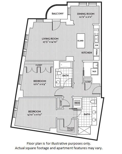 Floor Plan  B11 floor plan at The Woodley, Washington, DC 20008, opens a dialog