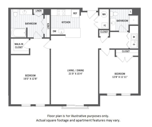 Floor Plan  B12(1) floor plan at Jack Flats by Windsor, 1000 Stone Place, 02176