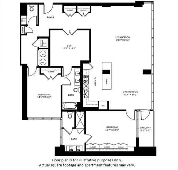 Floor Plan  B12 Floor Plan at 7770 Norfolk, Maryland