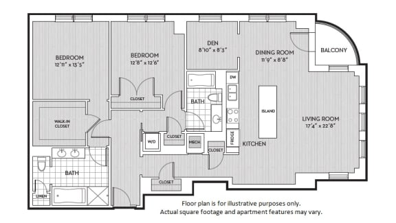 Floor Plan  B12 floor plan at The Woodley, 2700 Woodley Road, NW, Washington, DC, opens a dialog