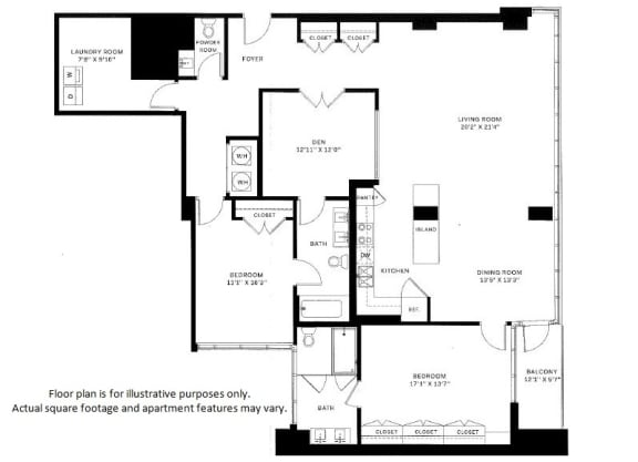 Floor Plan  B13 Floor Plan at 7770 Norfolk, Maryland, 20814