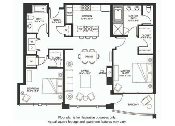 Floor Plan  B16 South at The Bravern, WA, 98004