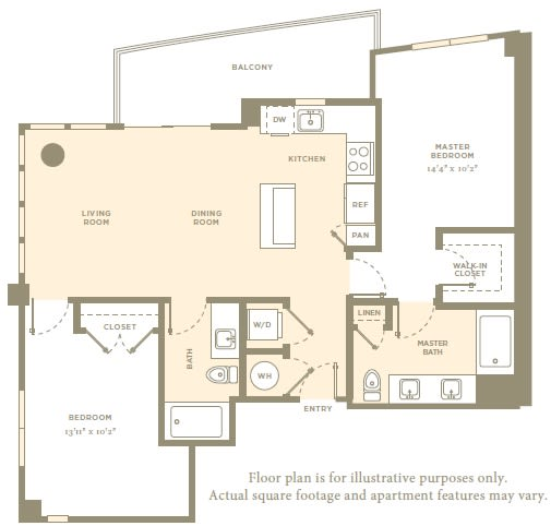 Floor Plan  B1 Floor Plan at Amaray Las Olas, FL, 33301