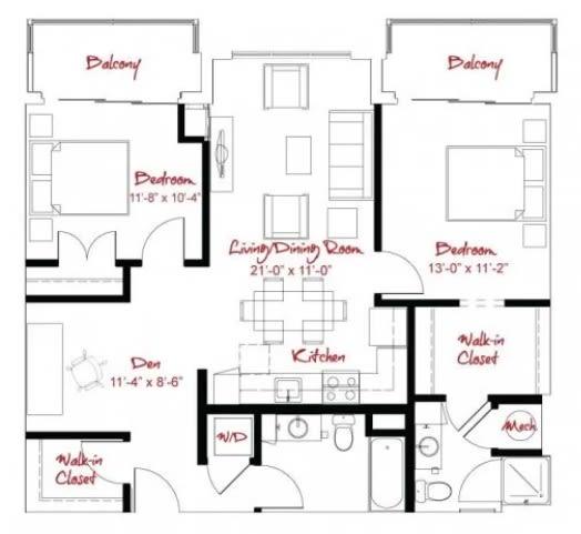 Floor Plan  B1D