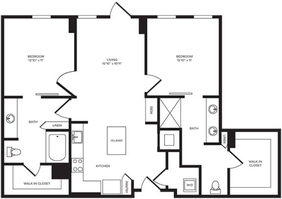 Floor Plan  B2(4) at Windsor Turtle Creek, TX, 75219