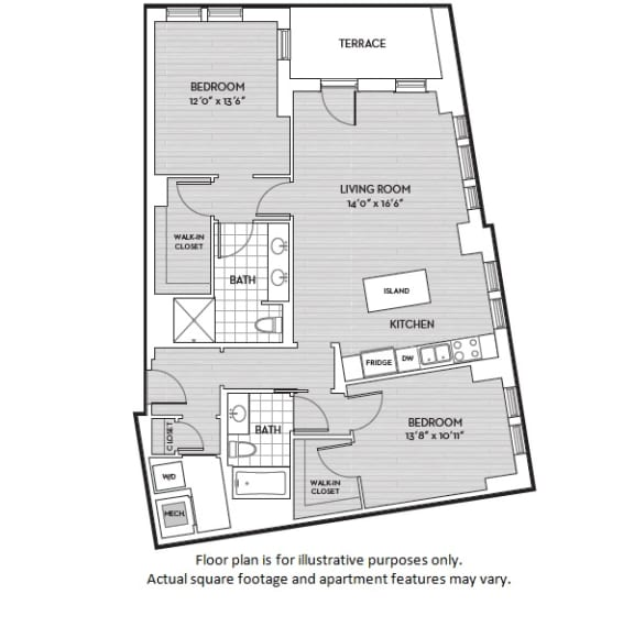 Floor Plan  B2(5) floor plan at The Woodley, 2700 Woodley Road, NW, 20008, opens a dialog