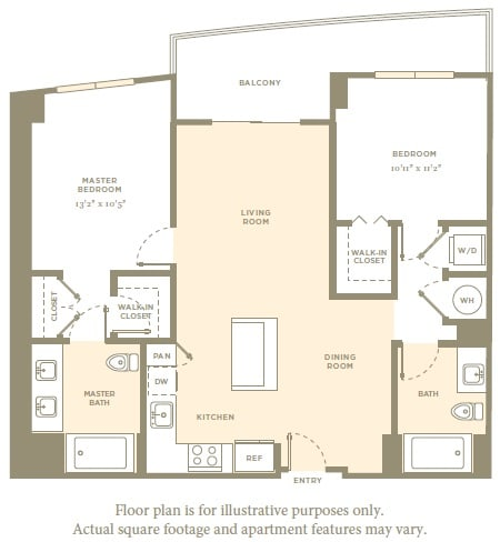 Floor Plan  B2 Floor Plan at Aaray Las Olas in Fort Lauderdale, FL