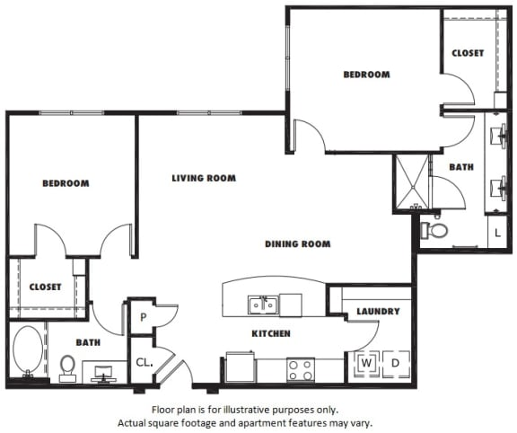 Floor Plan  B3 floor plan at Windsor Metro West, Texas, 75024