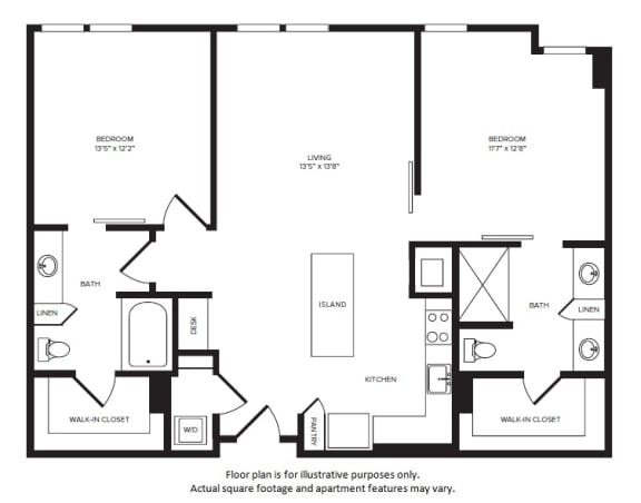 Floor Plan  B3(2) floor plan at Windsor Turtle Creek, Dallas, Texas, opens a dialog