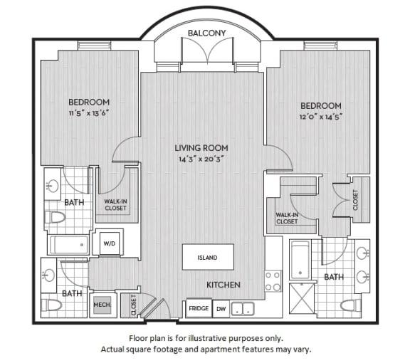Floor Plan  B3(3) floor plan at The Woodley, Washington, DC 20008, opens a dialog