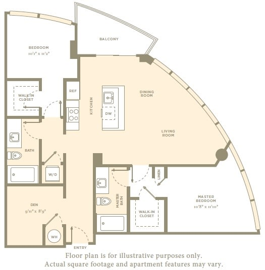 Floor Plan  B3 Floor Plan at Amaray Las Olas by Windsor, Fort Lauderdale, FL, opens a dialog