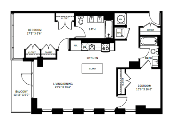 Floor Plan  B3 Floor Plan at 7770 Norfolk, Bethesda